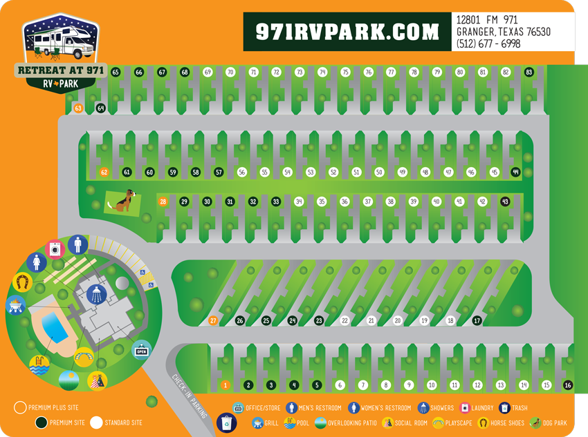 Retreat at 971 RV Park | Site Map